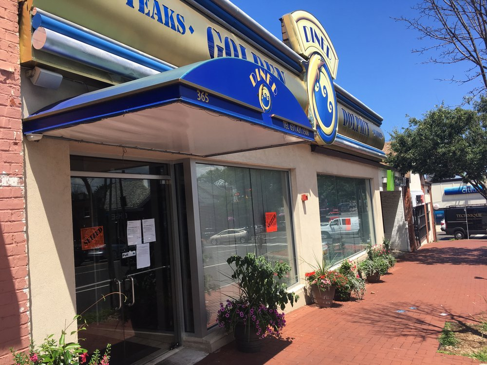 The Golden Dolphin diner in Huntington village has been seized by the state over $163,528 in unpaid withholding and sales taxes, a state tax department spokesman said . Long Islander News photo/Paul Shapiro