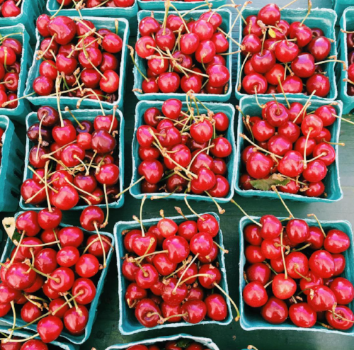Long Islander News Photo/Lauren Peller  Cherries at Huntington Farmers Market.