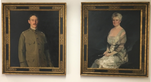 *Photos/Huntington Historical Society The portraits of prominent Huntington couple Henry and Mabel Stimson have been reunited after 60 years apart and now hang at the Huntington Historical Society.