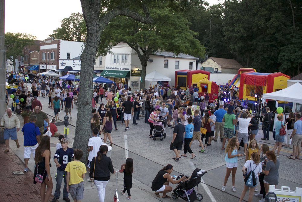 Main Street in Northport Village was crowded with people Tuesday night to celebrate the 10th Annual Northport Family Fun Night.