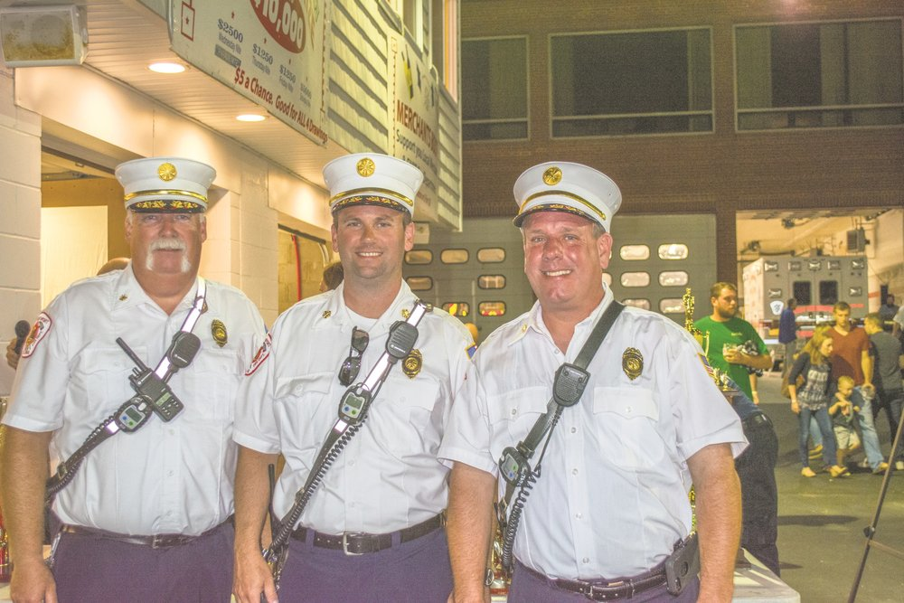 Pictured from left, are; East Northport Fire Department 1st Assistant Chief Dan Flanagan, Chief Dan Heffernan and 2nd Assistant Chief Thomas Bourne.