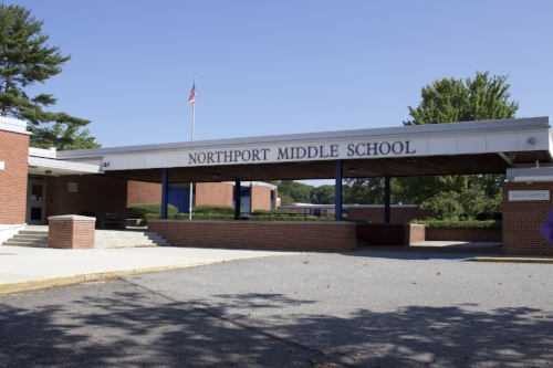 Long Islander News photo/Janee Law The K-wing at Northport Middle School will be closed through the 2017-2018 school year due to continued air quality testing, officials said.