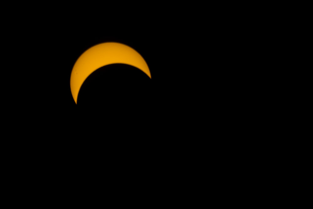 Matthew Scharkopf, of Huntington, took this photo of the solar eclipse at approximately 2:36 pm from his backyard off Lenox Road in Huntington Station. C opyright 2017 Matthew Scott Photography L.I. NY