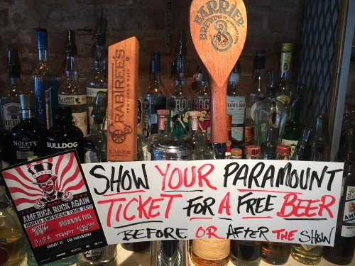 Crabtree's in Huntington village offers one free beer to those who show their day-of Paramount ticket, before or after a show.   Photo Courtesy of Crabtree's