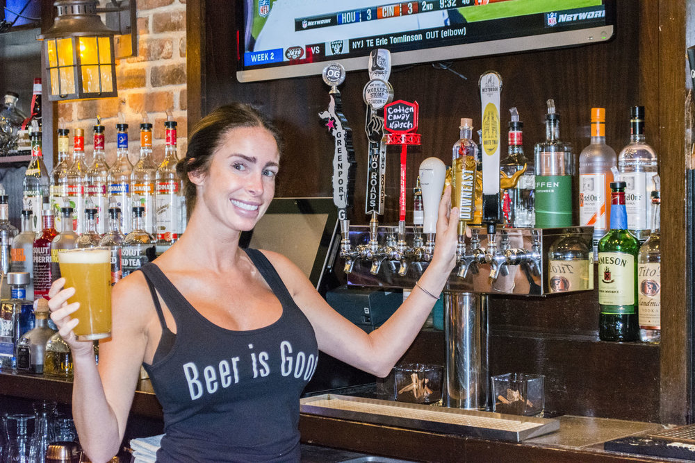 The Lark bartender Danielle has been serving food and drinks at the East Northport pub for five years.   Long Islander News photo/Barbara Fiore