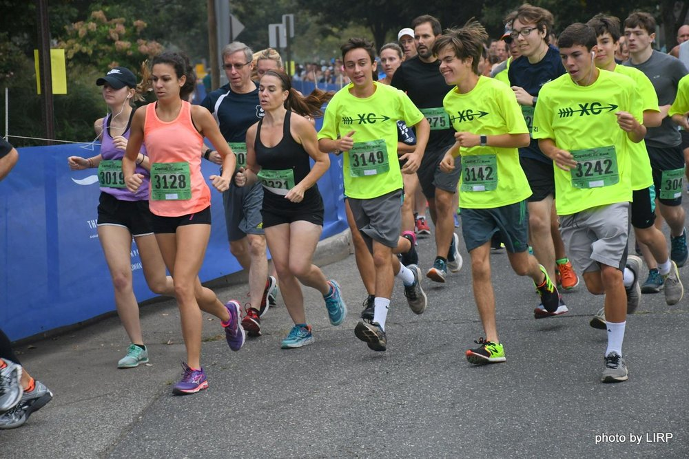 Runners make their way through the streets of Northport in the annual Great Cow Harbor 10K.   Photos/Ed Grenzig/Long Island Running Photos