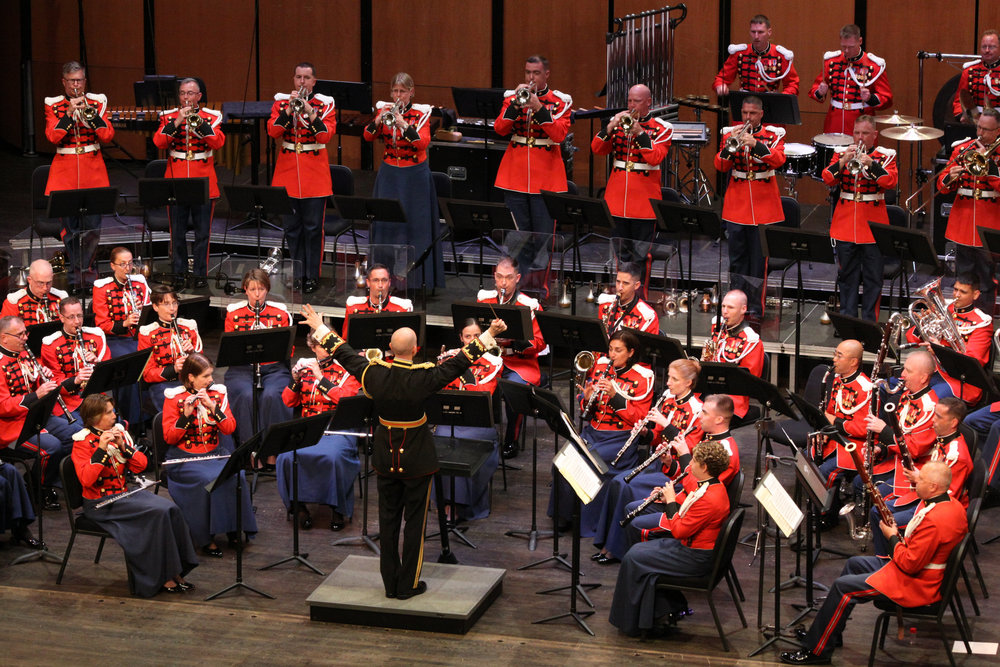 """The President's Own"" U.S. Marine Band will perform on the stage in the Half Hollow Hills High School East auditorium this October.     Photo Courtesy of U.S. Marine Band Public Affairs"
