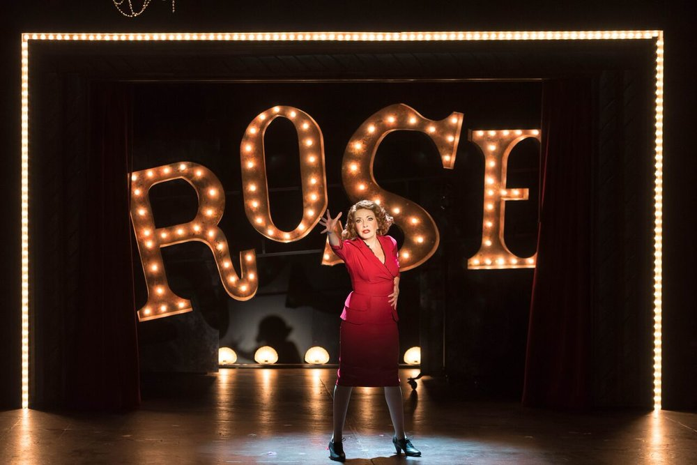 """Michele Ragusa (as Rose) gives a mesmerizing performance as the fame-hungry mother in """"Gypsy.""""  Photo by Michael DeCristofaro"""