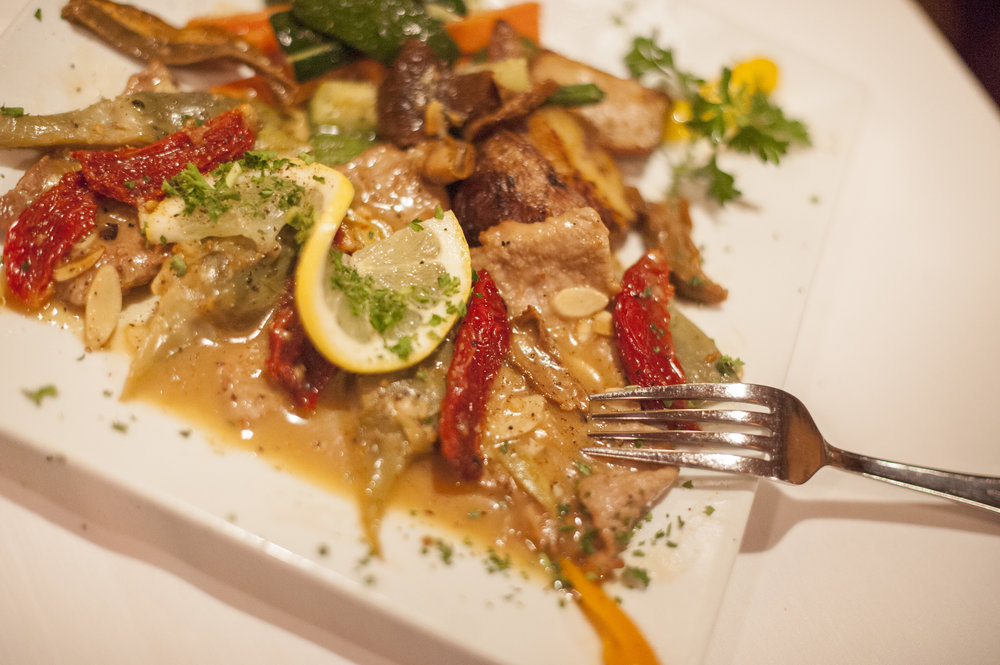 The veal carciofi from Milito's.   Long Islander News Photo/File