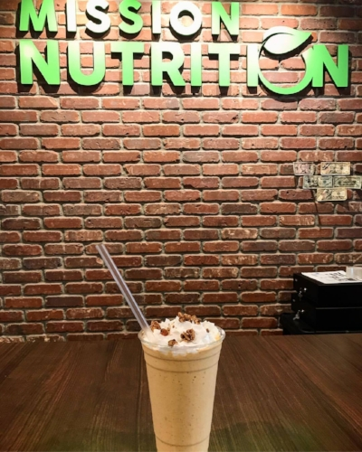 Mission Nutrition in Huntington village has added a pumpkin pie smoothie to its menu.