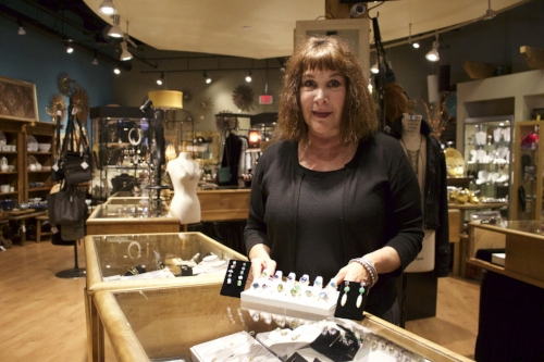 With an artistic background, Leslie Salant, owner of Sedoni Gallery, wanted to open a store that featured handcrafted items from artists across the country. Long Islander News Photo/Janee Law