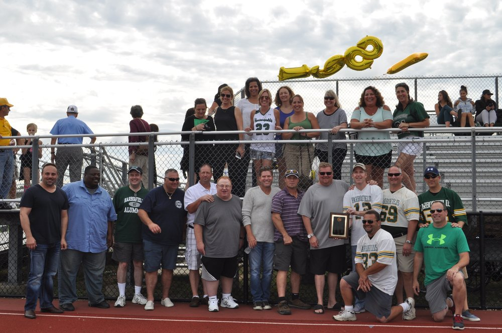 Several members of the 1987 Harborfields High School football team attended the reunion.   Photo Courtesy of John Tilden