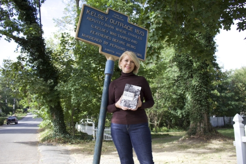 Kerriann Flanagan Brosky writes about historical crimes committed on Long Island and within the Town of Huntington in her new book.  Long Islander News Photo/Janee Law