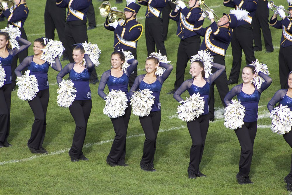 The Northport Tigerettes put on a show during halftime.   Long Islander News Photo/Janee Law