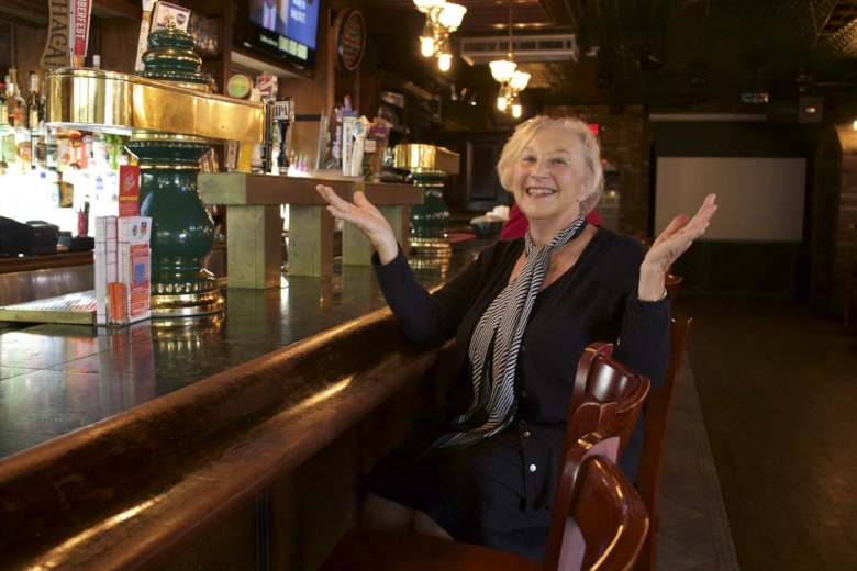 Sandra Finley, CEO and owner of Finley's, said she loves to see people enjoy themselves at her establishment, which she opened with her late husband, John, in 1993.   Long Islander News Photo/Janee Law