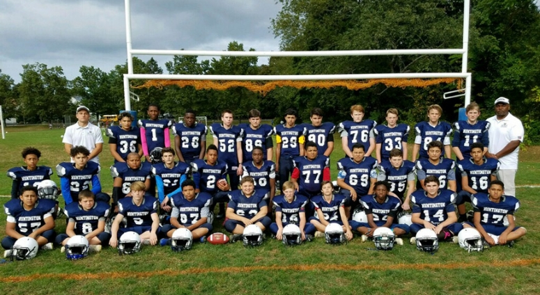 The undefeated Finley Middle School eighth-grade football team finished 6-0. Photo Courtesy of Huntington School District