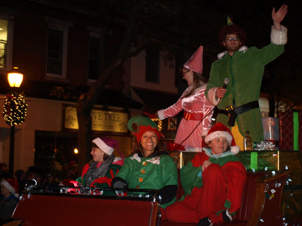 The Halesite Fire Department brought Buddy the Elf to the parade.   Long Islander News Photo/Connor Beach