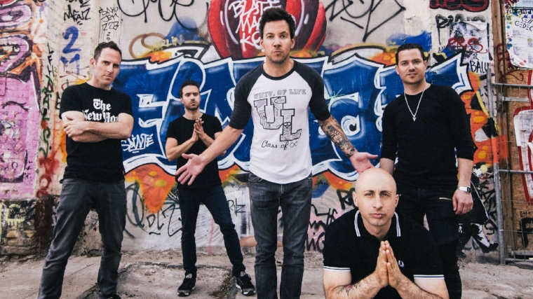 The five members of Simple Plan, from left, Chuck Comeau, Sebastien Lefebvre, Pierre Bouvier, Jeff Stinco, and David Desrosiers will take the stage at The Paramount on Dec. 5.