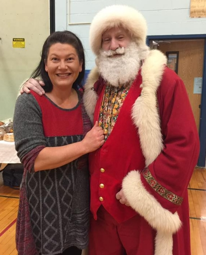 Santa made an appearance at last year's Huntington Winter Farmers' Market.   Photo/Facebook/G&G LI Winter Farmer's Market