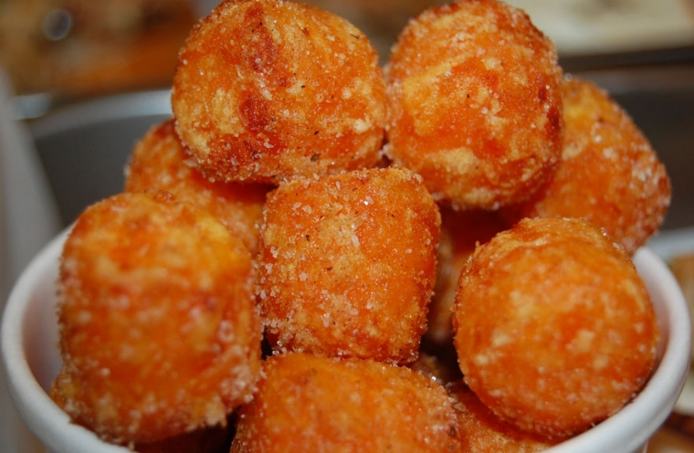 Roast's famous sweet potato tater tots are served with cinnamon and sugar.Photo Courtesy of RoastSandwichHouse.com
