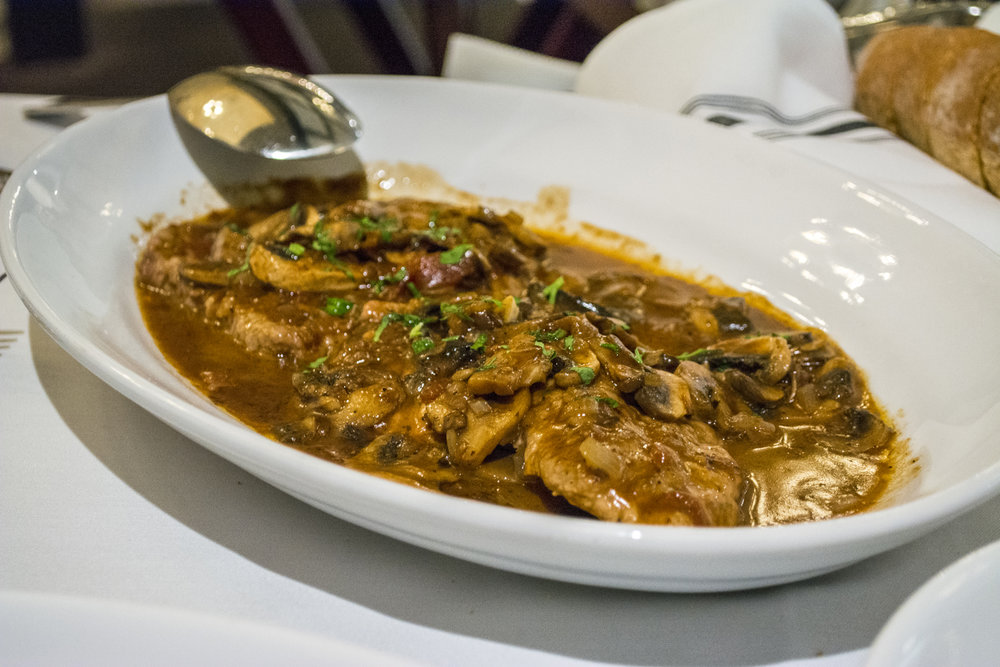 The Veal Marsala ($24/$33) is served with mushrooms and a Marsala wine sauce.   Long Islander News photos/Barbara Fiore