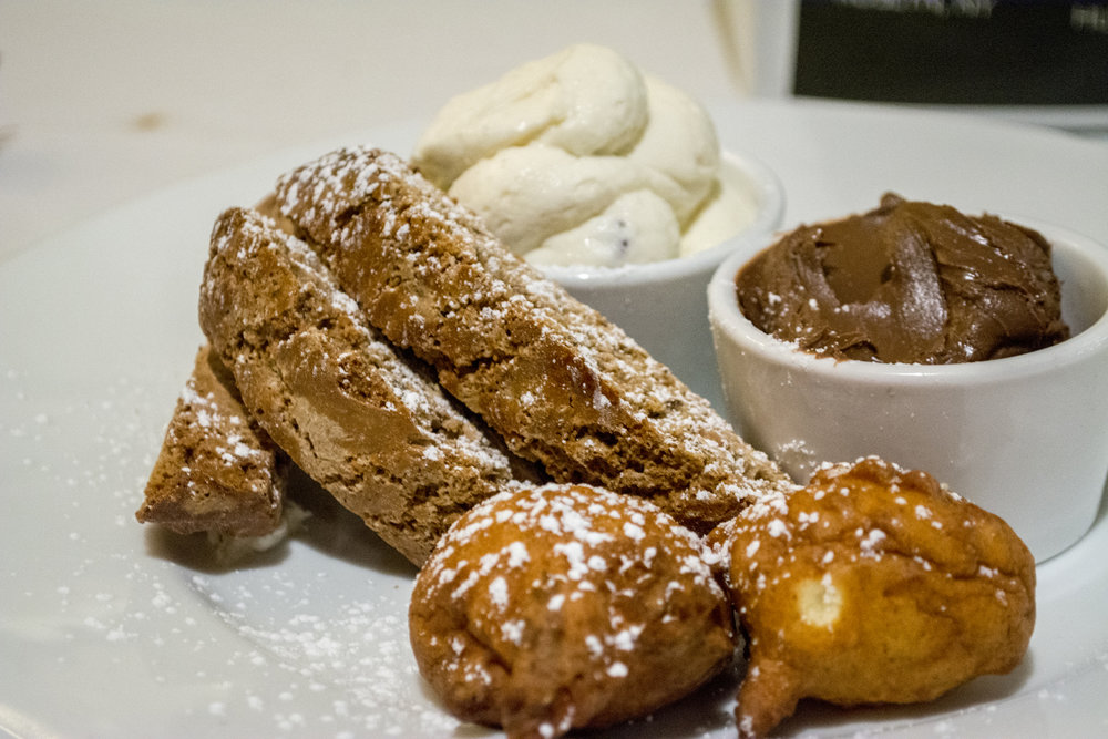 Save room for traditional Italian desserts like Bombolini and Biscotti served with Nutella and cannoli cream.   Long Islander News photos/Barbara Fiore
