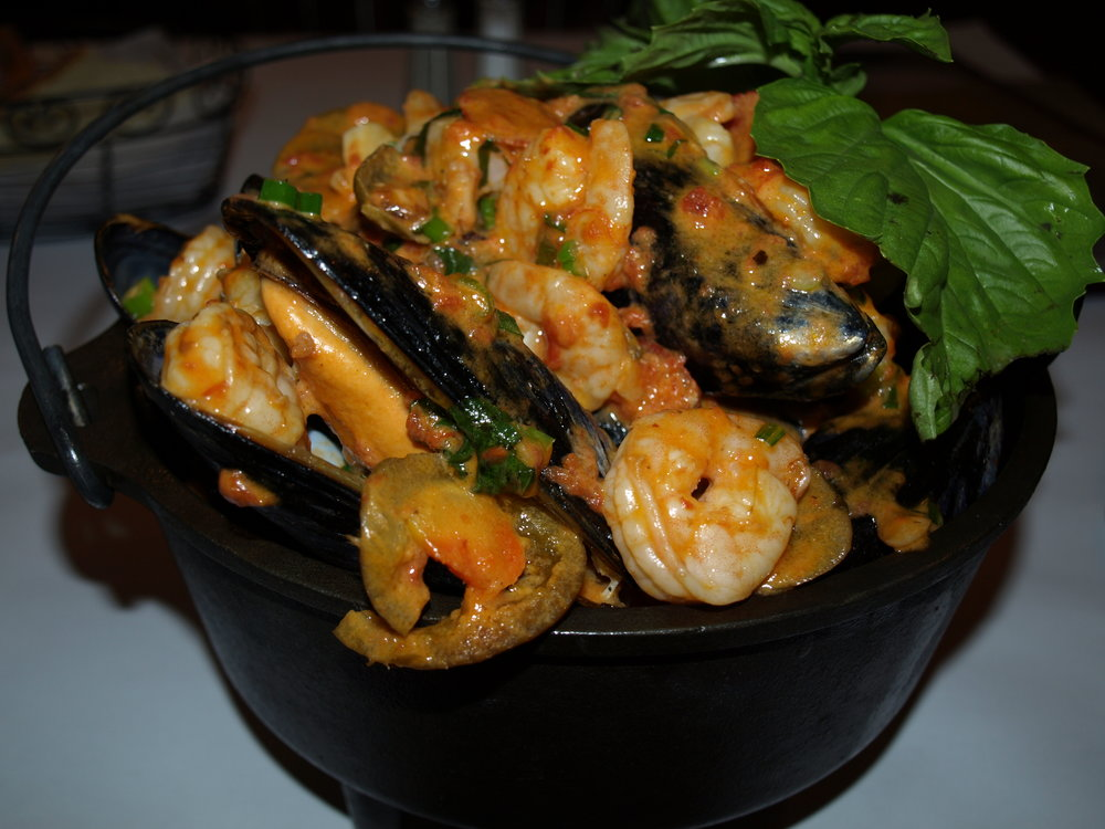 Mussels Mandolino at Porto Fino.     Long Islander News photos/archives