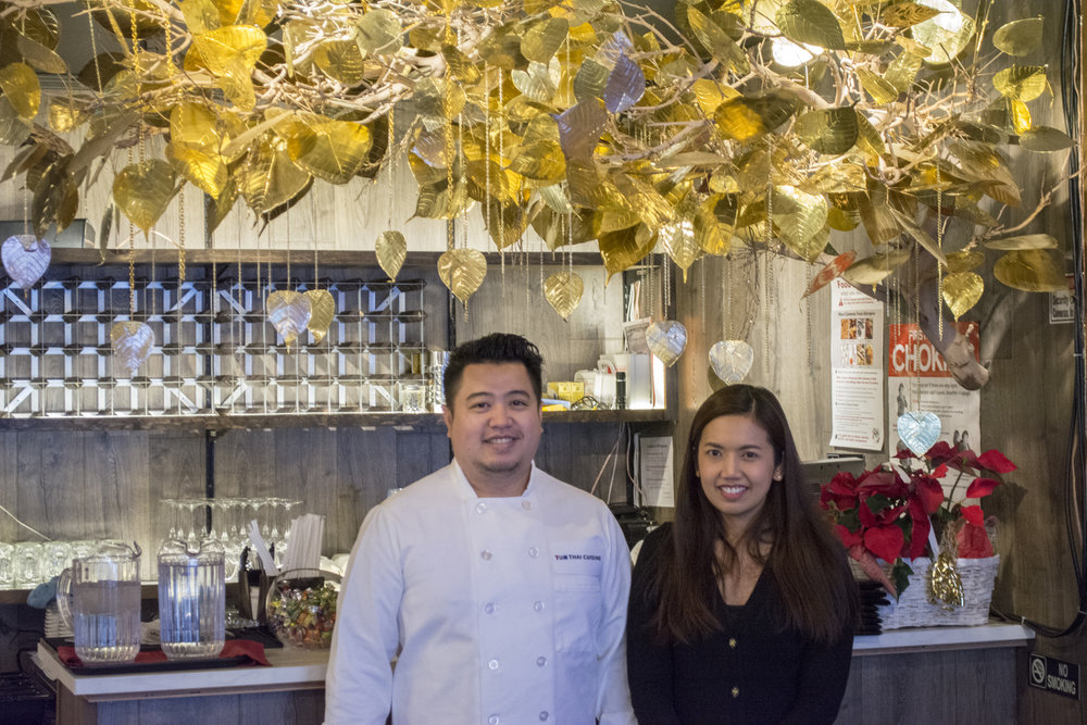 Angsuwan Banchusuwan, right, and her husband Tom opened their second Tum Thai location in Huntington on Dec. 22 at 255 Main St., Huntington village   Long Islander News photos/Connor Beach