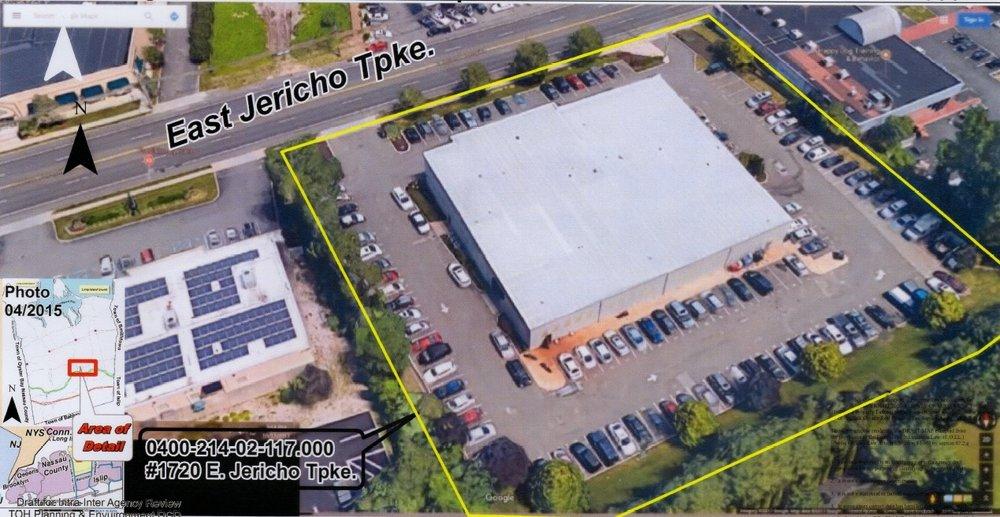 A bird's eye view of the Kia dealership planned for 1720 East Jericho Turnpike, Huntington.