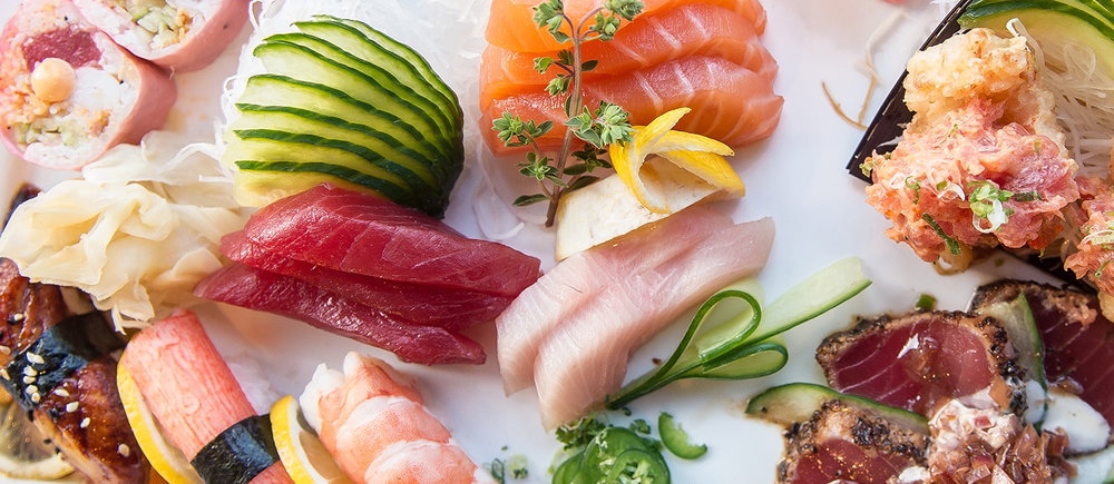 Customers can visit Mill Pond in Centerport on Valentine's Day for a Sushi and Sashimi Tasting with tuna, salmon, yellowtail, kani and shrimp.