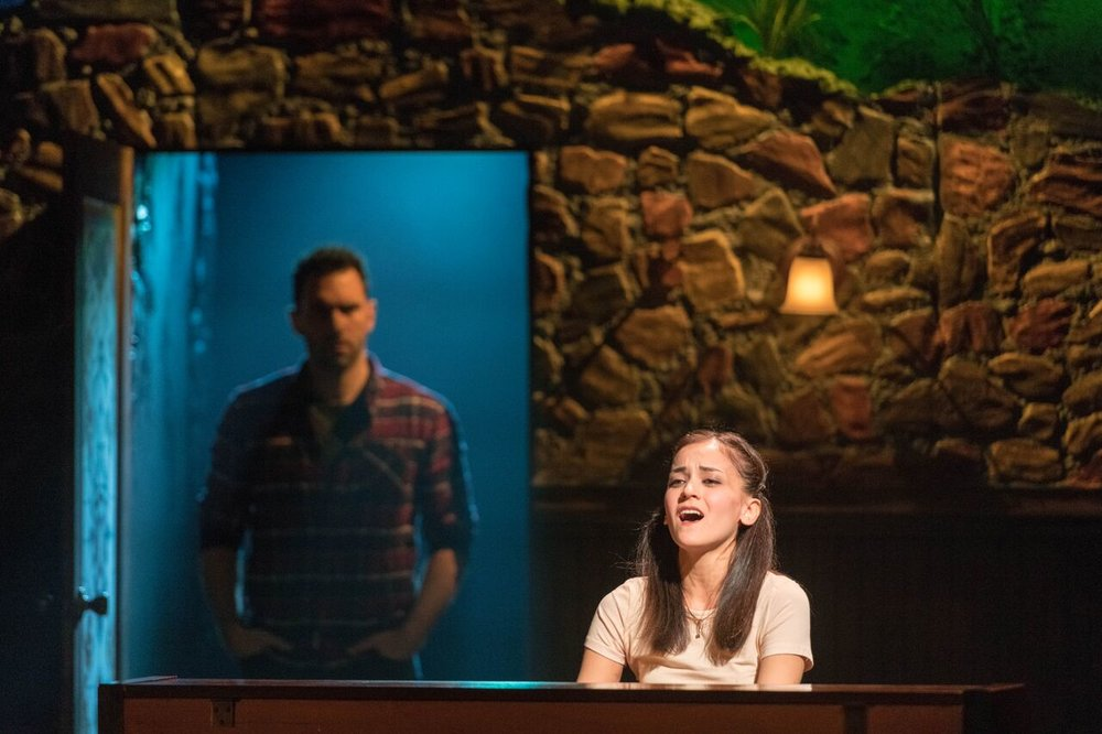 "Andrea Goss (Girl) gives an emotional performance in ""The Hill"" of the John W Engeman Theater's production of ""Once.""   Photos by Michael DeCristofaro"