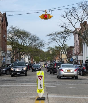 Northport Village police plan to install additional security cameras in the village, including along Main Street, pictured.   Long Islander News photo/archives