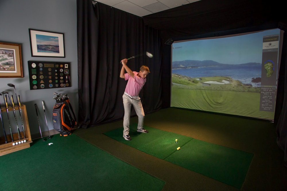 Practice your swing using the HD golf simulator at Golf & Body Huntington village this weekend.