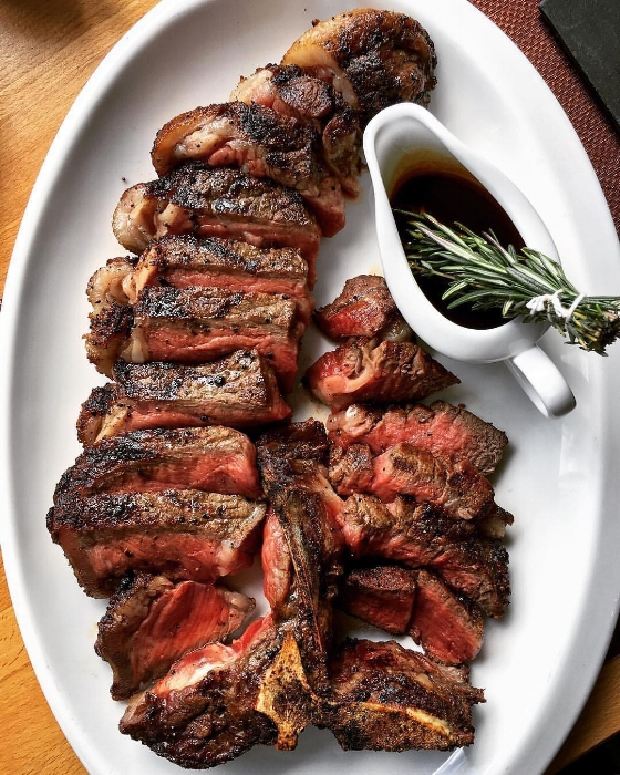 Meet the 40-ounce porterhouse steak for two available at IMC.   Photo/Facebook/IMC