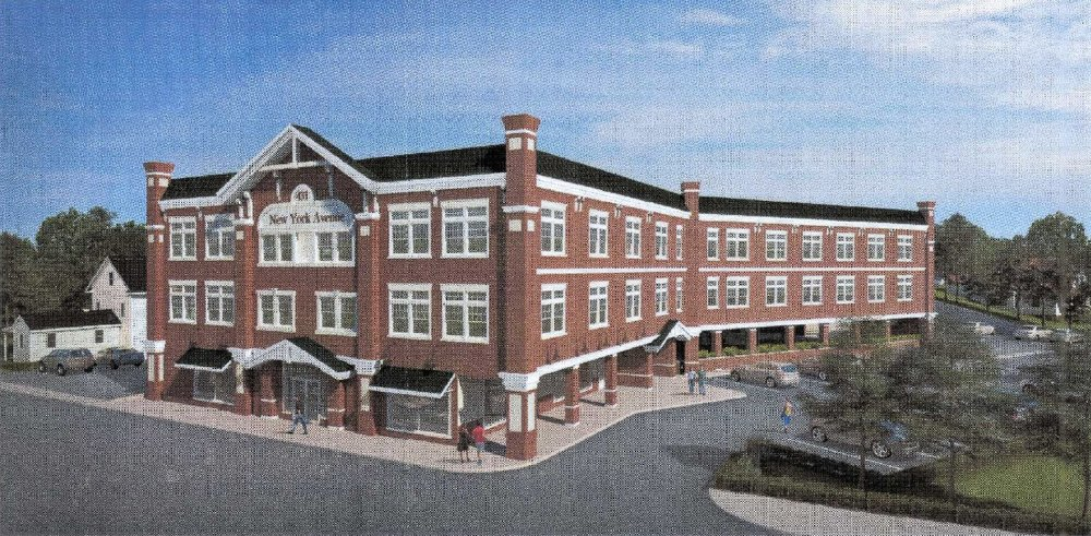 A Rendering Shows A Proposed Three Story, Mixed Use Building With 24  Apartments