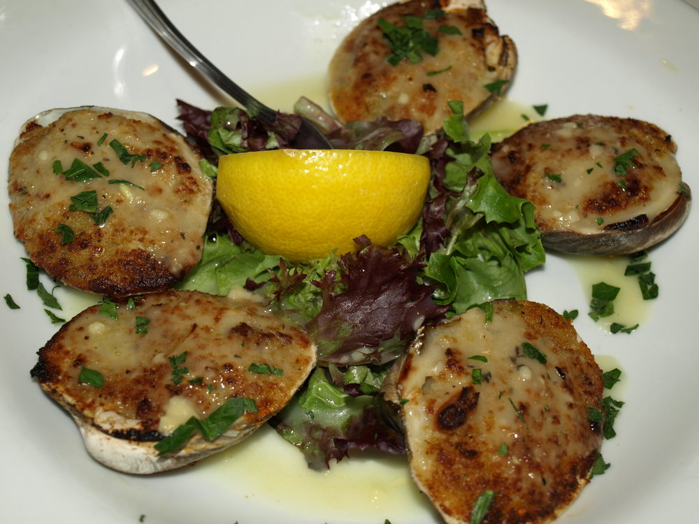 Baked Clams ($9) are a Bonwit classic served with breadcrumbs and baked to a perfect golden brown.   Long Islander News photos/Connor Beach