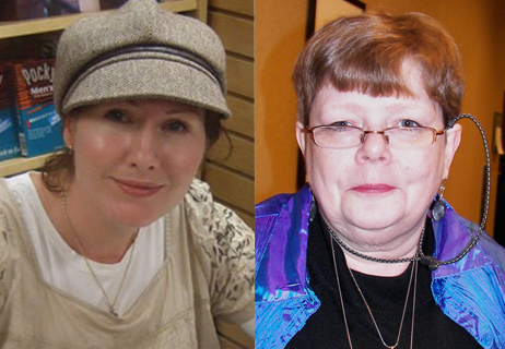 Left, G. Willow Wilson. Right, Tamora Pierce