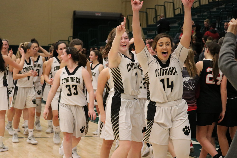 Commack celebrates its Suffolk title.   Photo/Commack School District