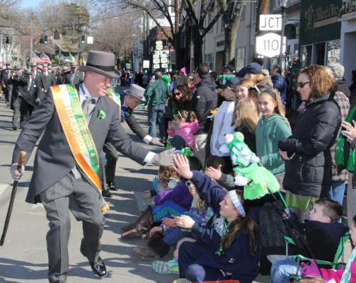 The annual St. Patrick's parade is Huntington kicks off at 2 p.m., Sunday.