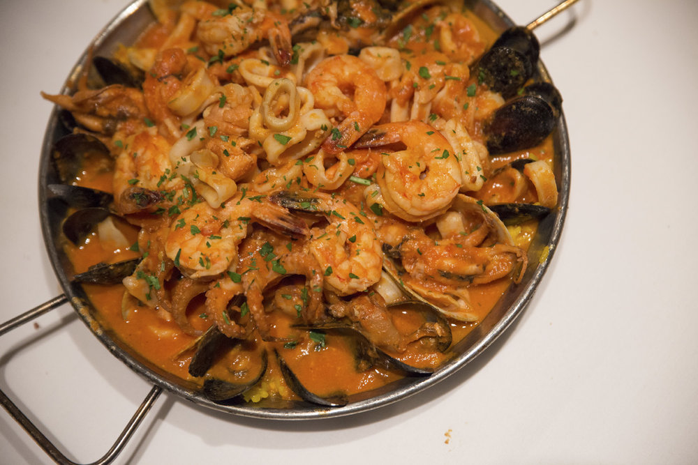 The Paella is on the menu at Cafe Buenos Aires in Huntington.   Long Islander News photos/archives