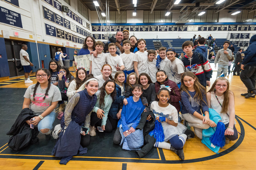 These Woodhull students are happy after their team rallied for a victory.   Photos/Darin Reed