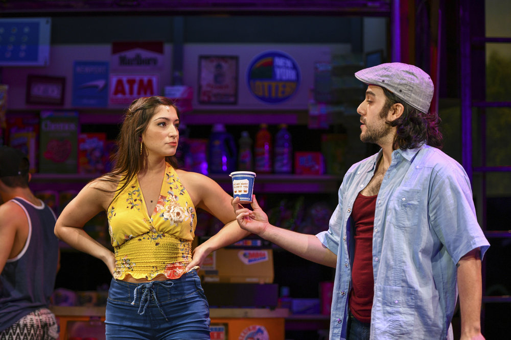 Chiara Trentalange and Spiro Marcos portray the relatable love story of Vanessa and Usnavi.   Photos by Michael DeCristofaro