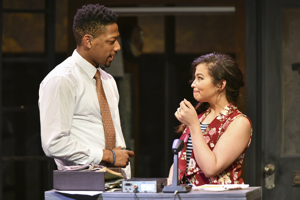 "Josh Marin (Benny) and Cherry Torres (Nina) perform the fun number of ""Benny's Dispatch.""   Photos by Michael DeCristofaro"
