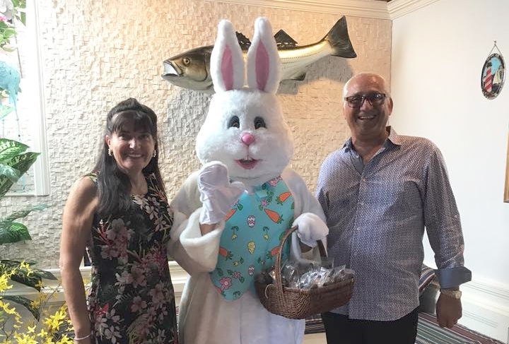 Easter diners of Harbor Mist in Cold Spring Harbor can meet the bunny himself this Sunday.   ( Photo/Facebook/Harbor Mist)