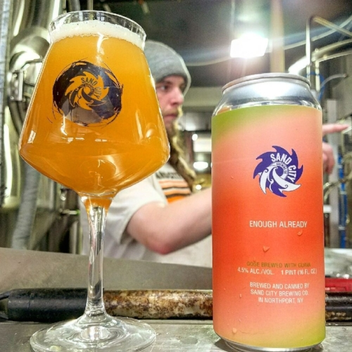 The Enough Already gose was available last weekend at Sand City Brewing Co.   (Photo/Facebook/Sand City)