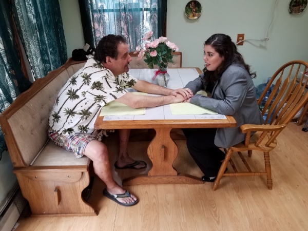 "Father-daughter duo Yank Adler and Alexa Adler play a midlife-crisis dad and a way-to-way-to-serious daughter in ""Surf's Up"" by Ken Levine, one of 12 original plays that will be presented at the Ninth Annual Northport One-act Play Festival this weekend."