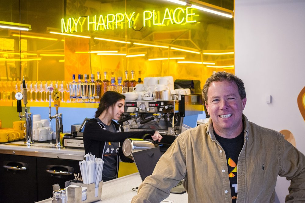 Mark Lessing, executive vice-president of the Lessing's restaurant group, is pictured at the group's newest eatery, Hatch, at 286 Main St., Huntington.   (Long Islander News photos/Connor Beach)