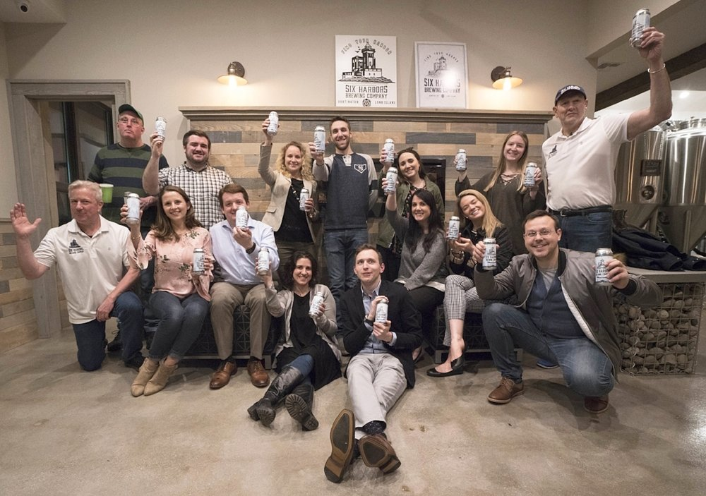 "This year's group of Young Professionals recently got the chance to brew with Six Harbors Brewing Company the ""YPA"" beer, which was sold at last night's awards dinner and will also be available at the brewery when it opens in Huntington later this spring."
