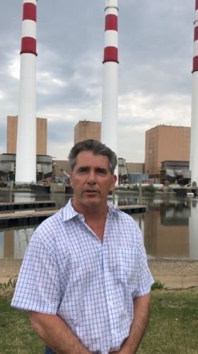 Councilman Eugene Cook announced in a video last week in front of the Northport Power Plant his proposal to acquire the plant using eminent domain.