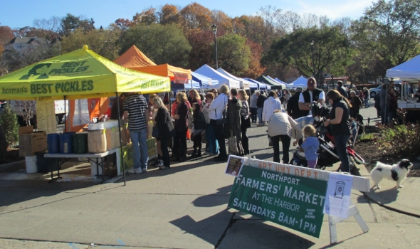 The Northport and Huntington farmers markets open in early June.